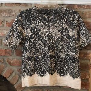 JCrew Lace-printed sweatshirt Size XS
